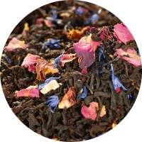 Schwarzer Tee Rosengarten