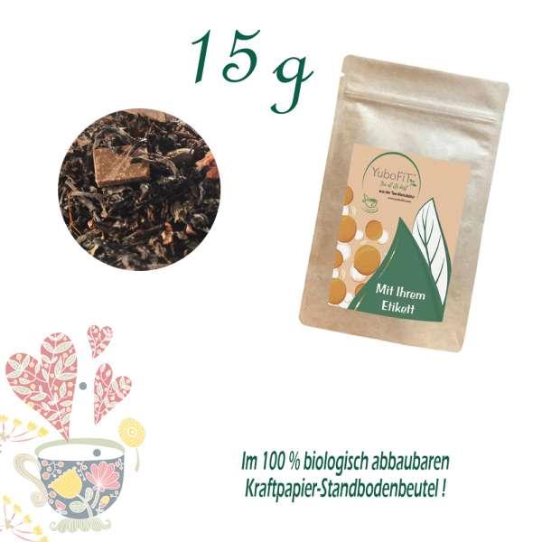Schwarzer Tee Herbe Schokolade