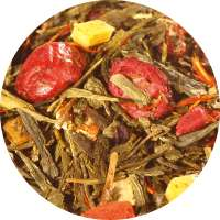 Gelber Tee Granatapfel-Cranberry
