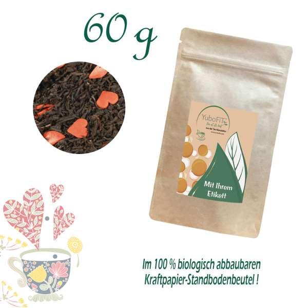 Schwarzer Tee Herzblatt
