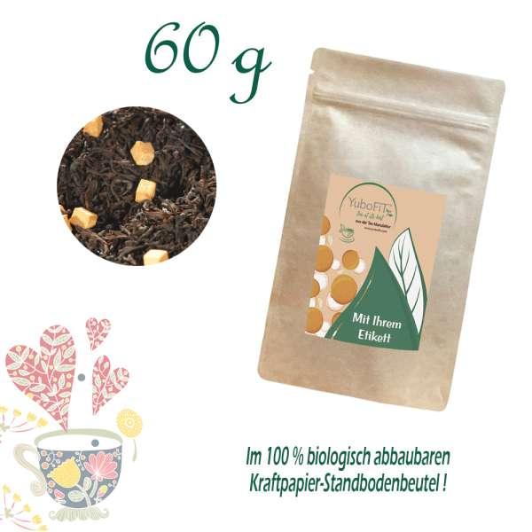 Schwarzer Tee Sahne-Karamell