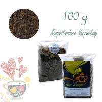Kompostierbarer Zellglas-Beutel, Geprägtes Verschluss-Siegel aus Zuckerrohrpapier. Komplett abbaubar. Inhalt 100 g