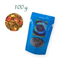Aluverbundfolien-Standbodenbeutel, Aromabeutel, blau, mit Fenster, Inhalt 100 g