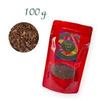 Aluverbundfolien-Standbodenbeutel, Aromabeutel, rot, mit Fenster, Inhalt 100 g