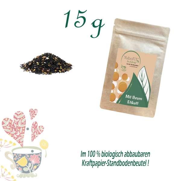 Schwarzer Tee Kaffee Konfus